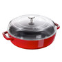 Braiser with Glass Lid - Cherry, 3.8 L