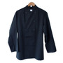Chef Coat with Black Plastic Buttons - Black, XXLarge