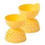 Egg Poachers  - Yellow Silicone, Set of 2