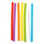Silicone Smoothie Straws + Brush, Set of 6