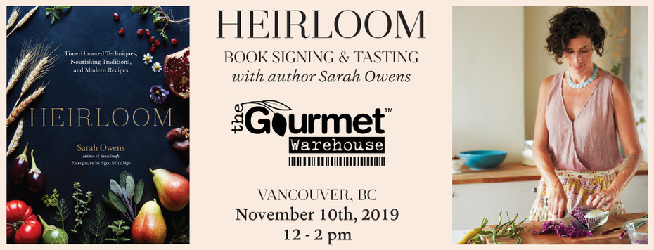 BOOK SIGNING - NOVEMBER 10 | HEIRLOOM - Sarah Owens