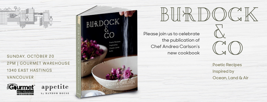 BOOK SIGNING - OCTOBER 20  |  BURDOCK & CO - Chef Andrea Carlson