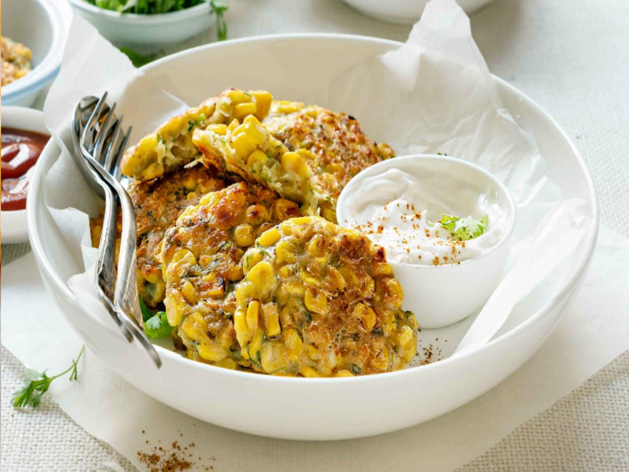 Parmesan Basil Corn Cakes