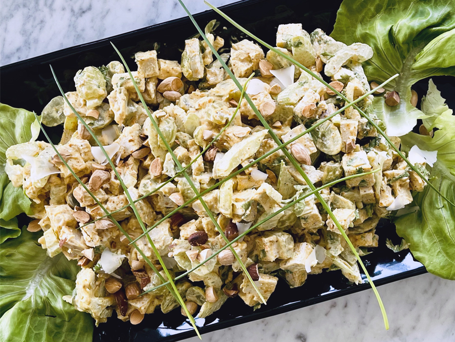 Curried Turkey Salad with Grapes & Toasted Almonds