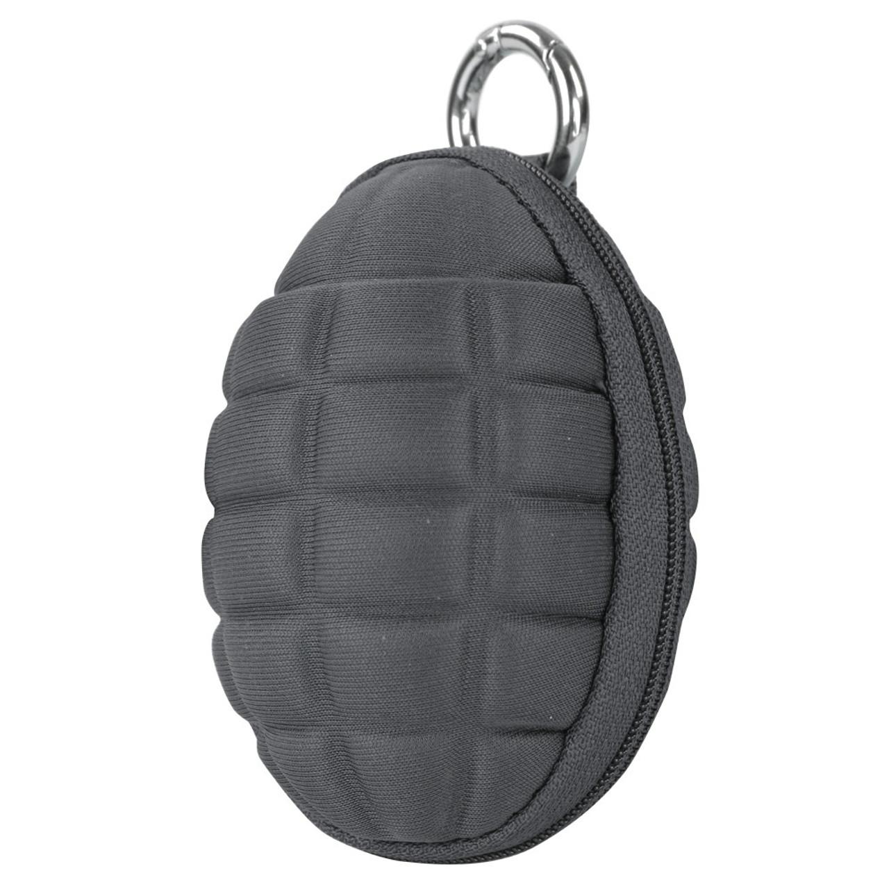 Grenade Key Chain Pouch - Slate Gray