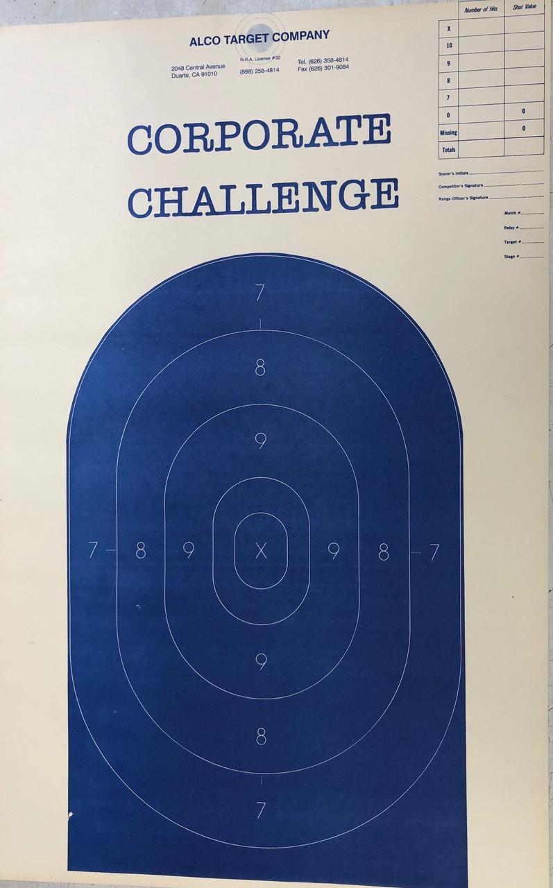 B-27 Corporate Challenge Variant Shooting Target Blue