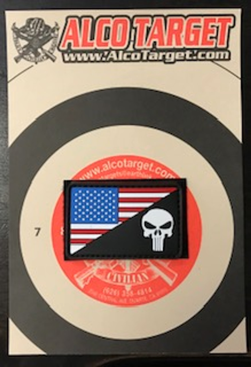 US FLAG MORALE PVC - PUNISHER