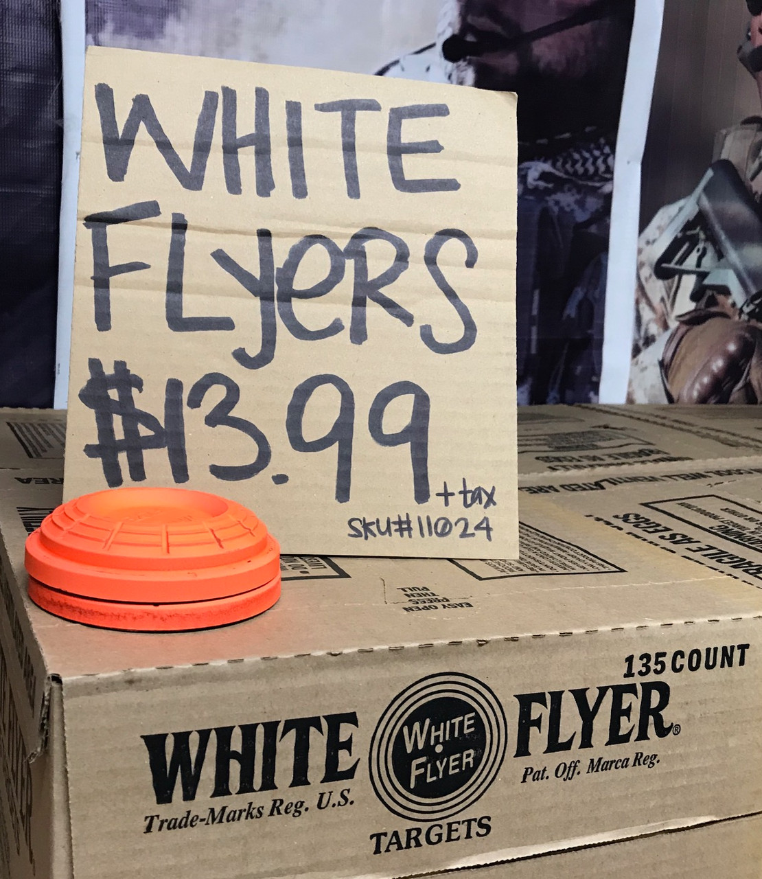 WHITE FLYERS CLAY TARGETS - IN STORE PURCHASE ONLY-135ct.