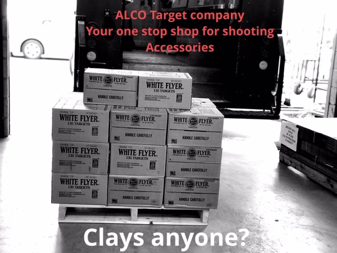 WHITE FLYER CLAY TARGETS 135 COUNT (IN STORE PURCHASE ONLY)