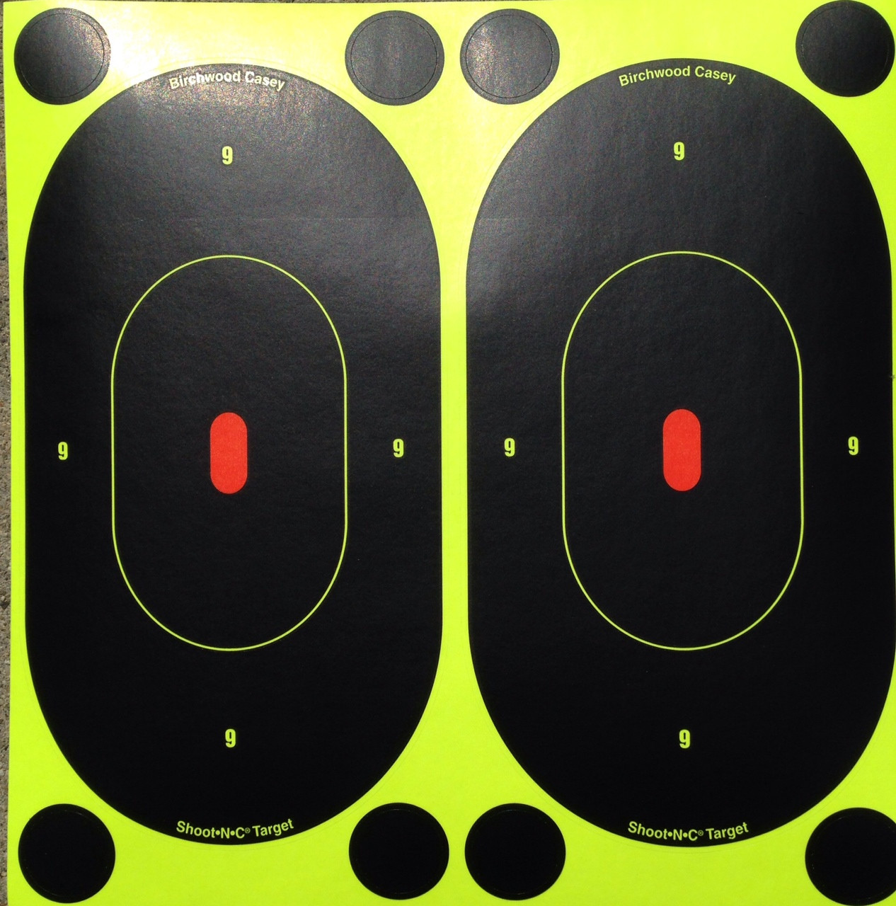"Shoot-N-C 7"" Oval Reactive Shooting Target"