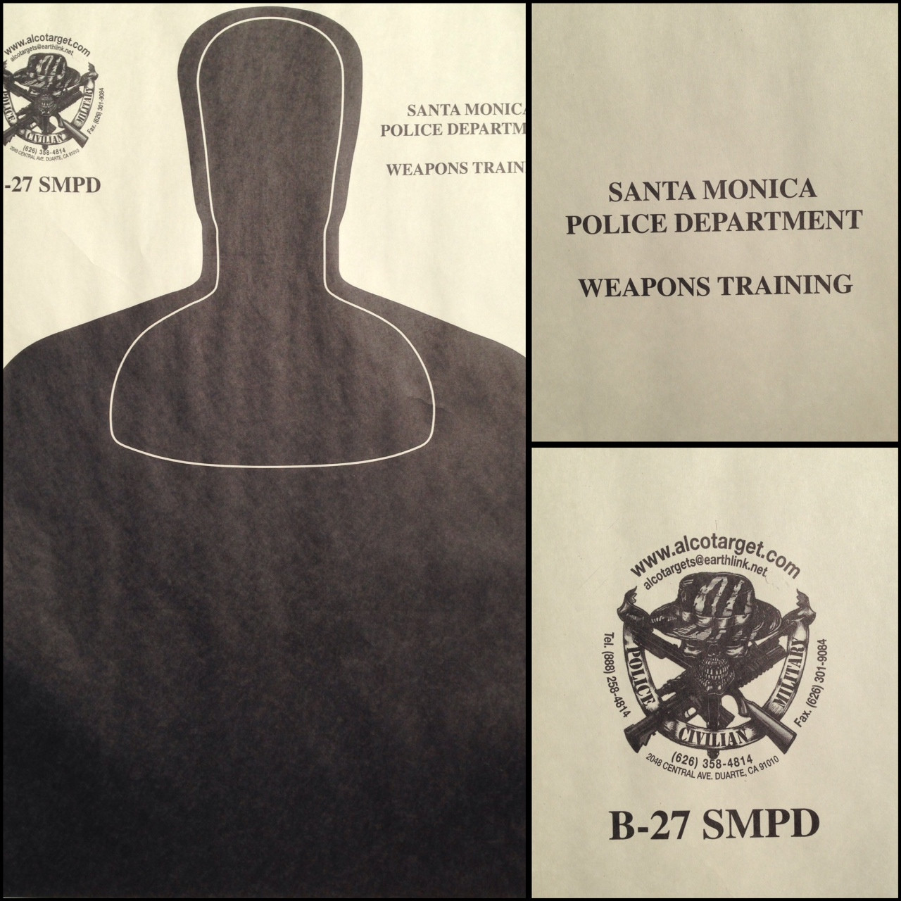 B-27 SMPD Shooting Target