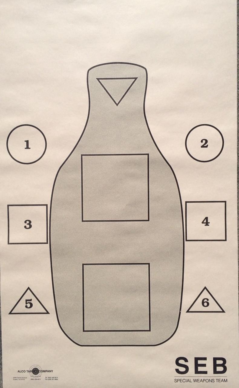 Q-SEB Training Shooting Target