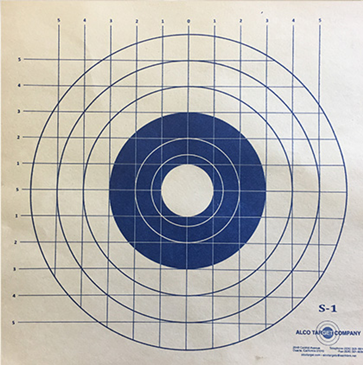S1 Military Shooting Target - Blue