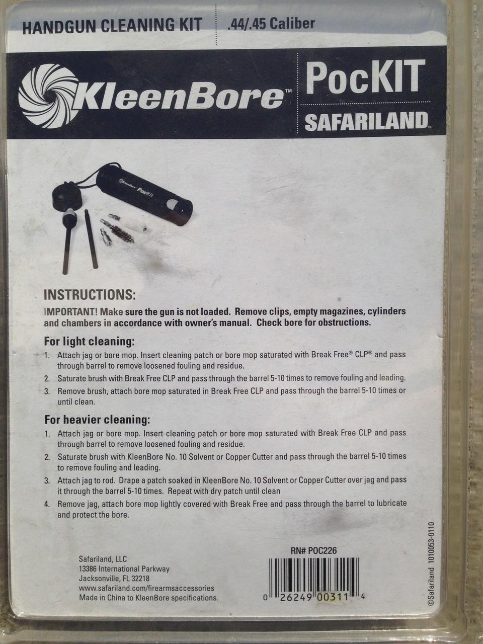 KleenBore PocKIT Handgun Cleaning Kit