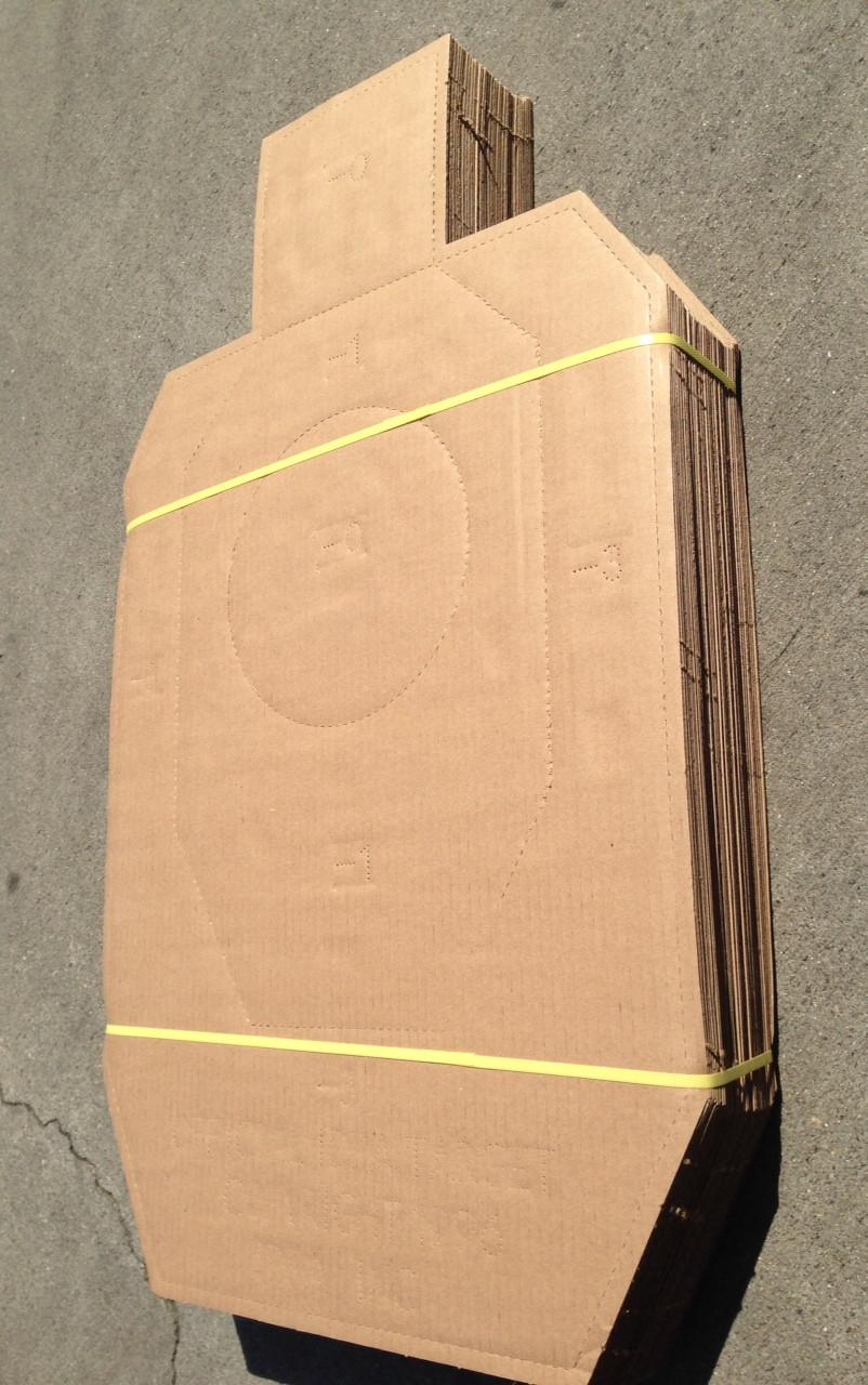 IDPA Cardboard Shooting Target Pack of 50