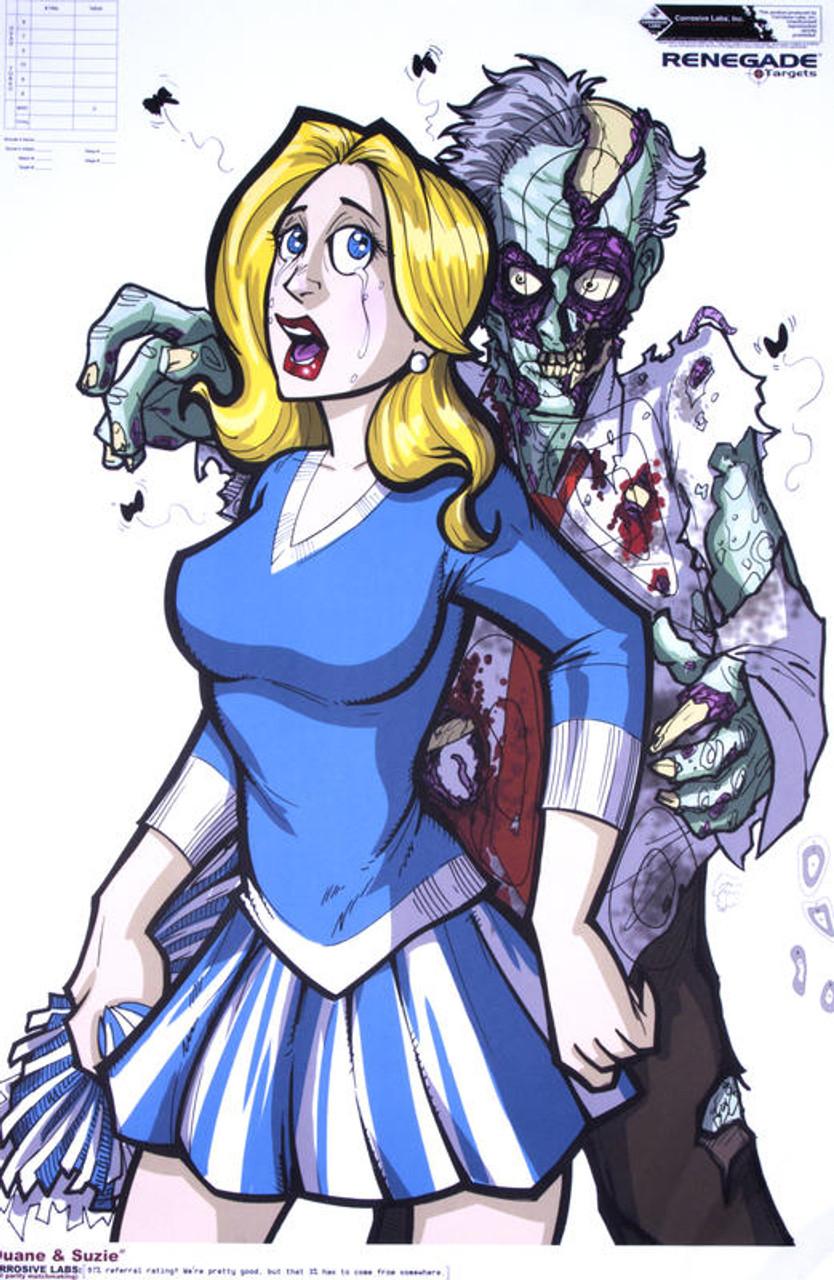 Zombie Duane & Suzie Illustrated Shooting Target