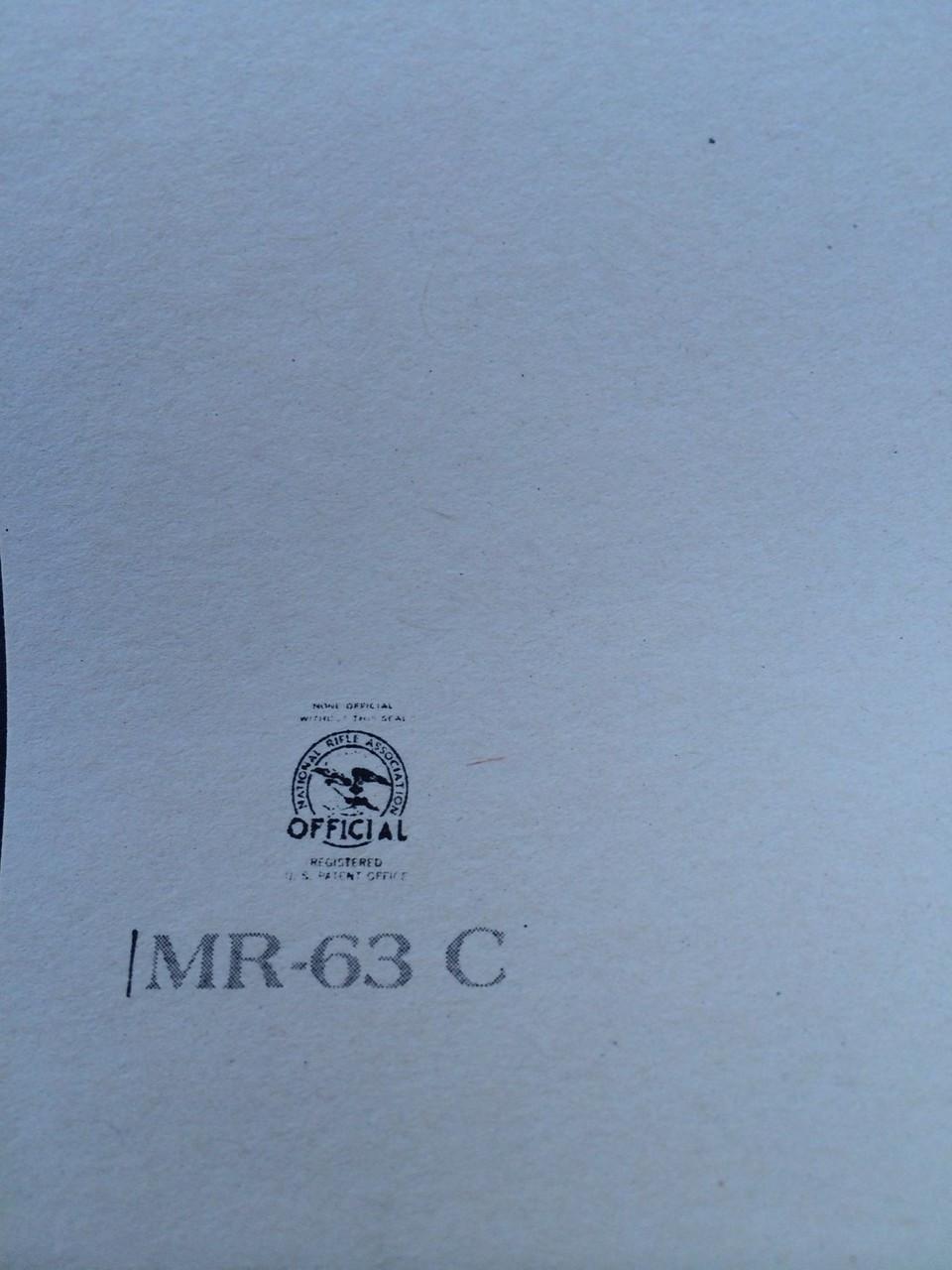 MR-63C Shooting Target