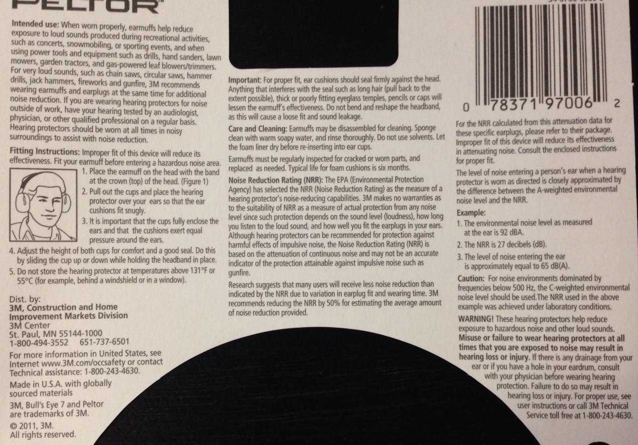 Peltor Bull's Eye 7 - Hearing Protector