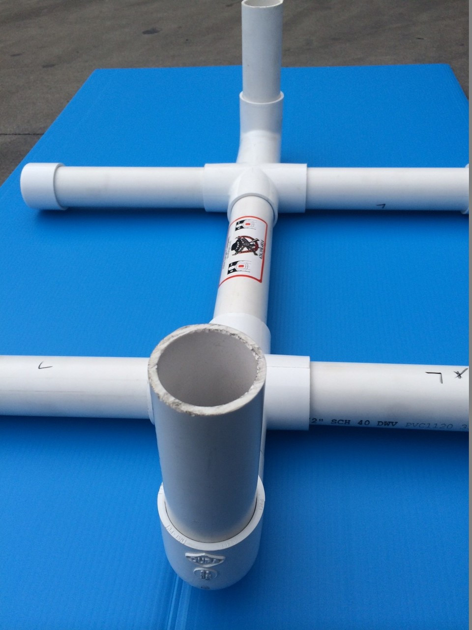 """Shooting Target Stand Base PVC 24""""        (WE BUILD THIS WHEN ORDERED)"""
