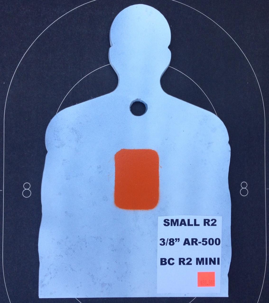 Steel Shooting Target Plate R2 Mini Torso Plate