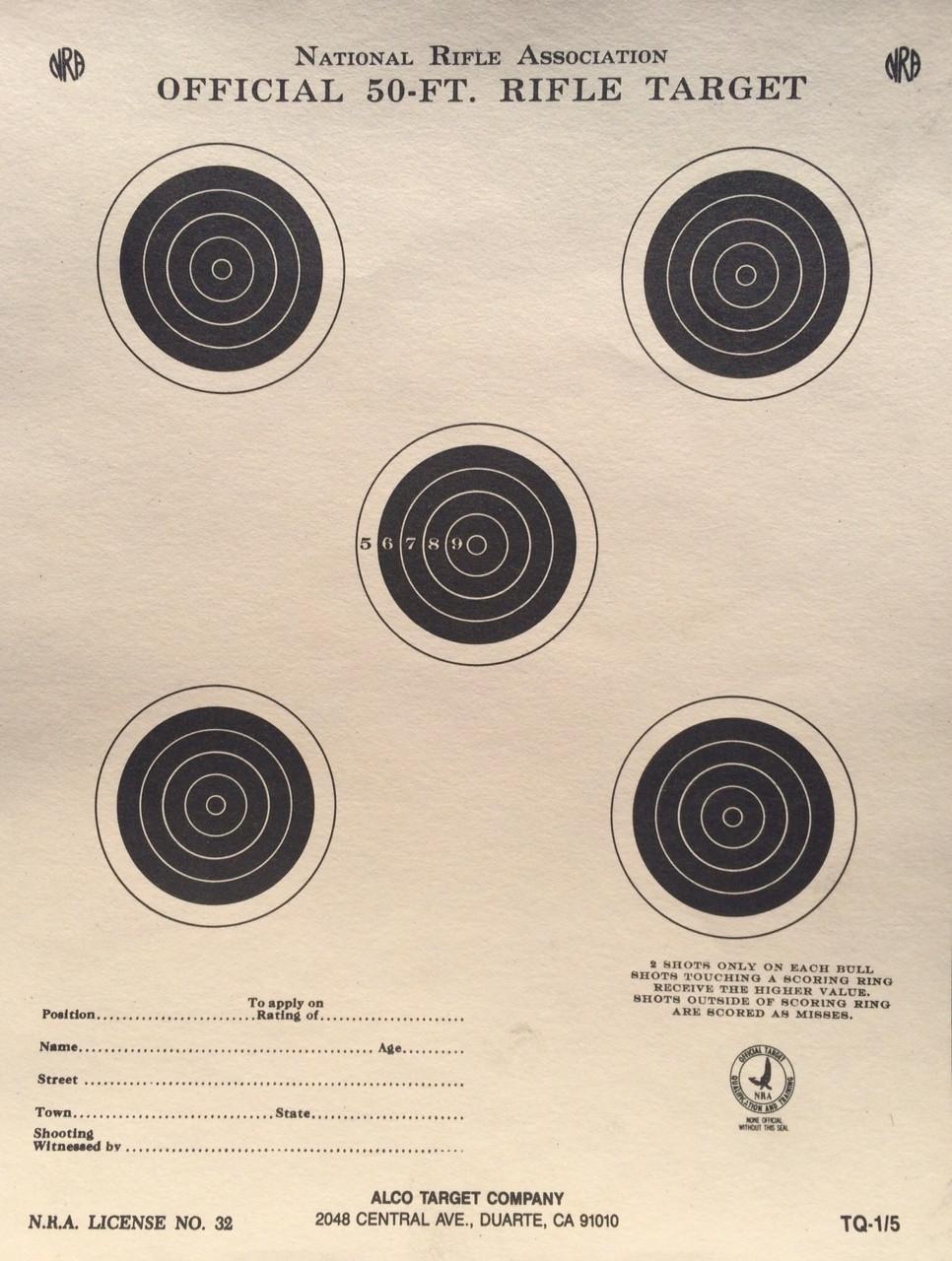 TQ-1/5 Shooting Target