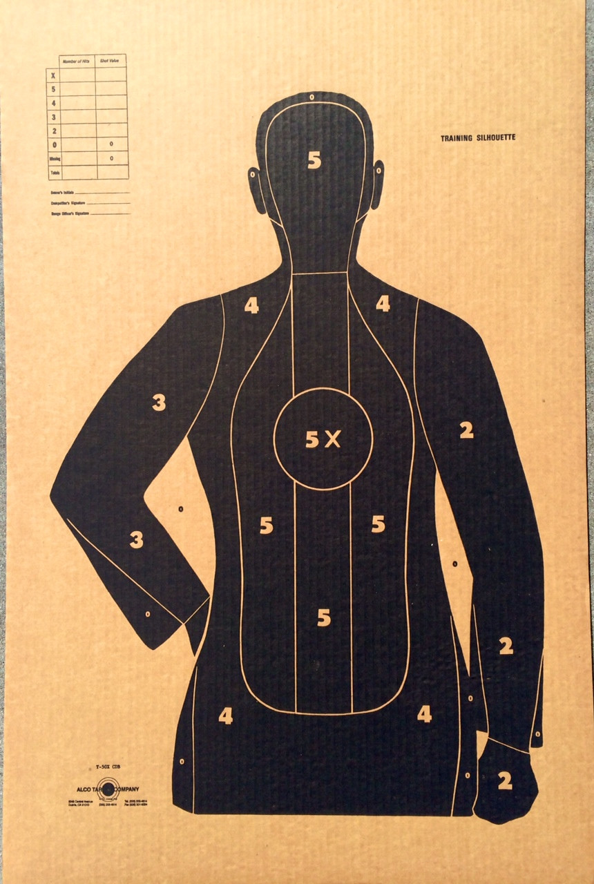 T-50 X CDB Cardboard Shooting Target