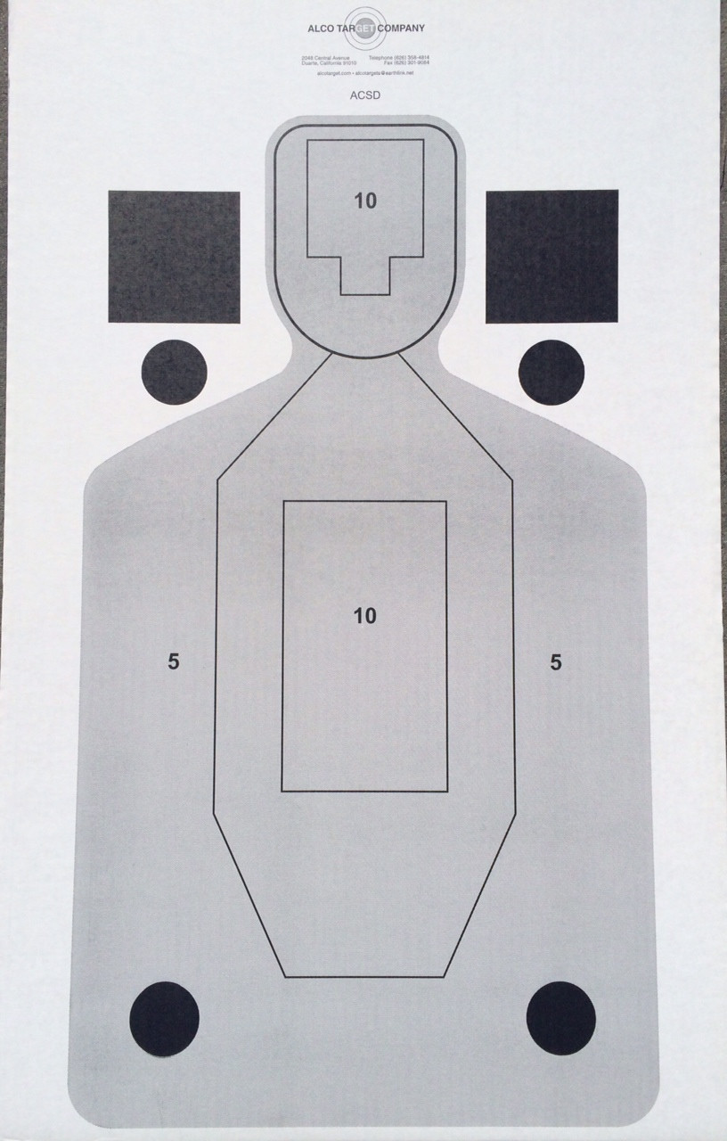 ACSD CDB Cardboard Shooting Target