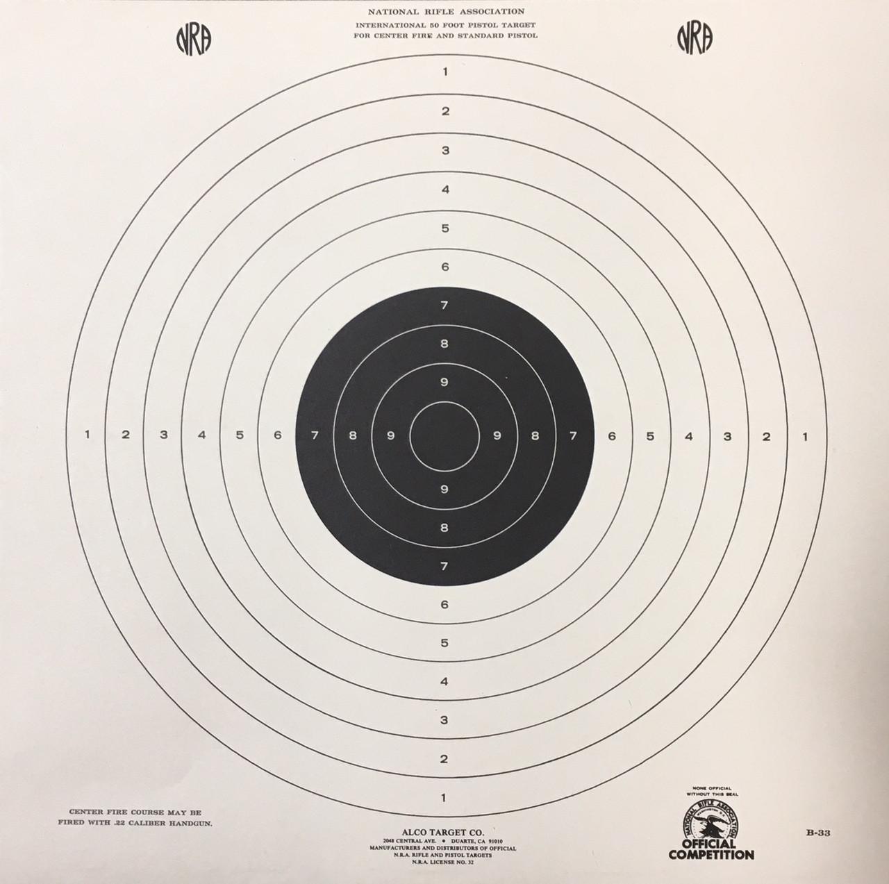 B-33 Shooting Target
