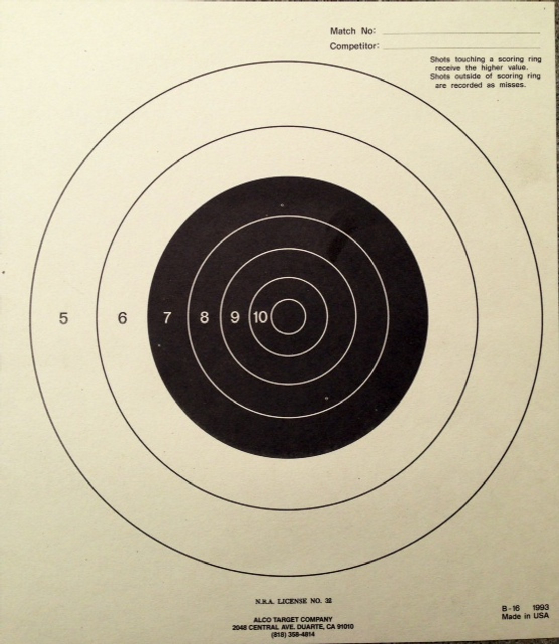 B-16 Shooting Target