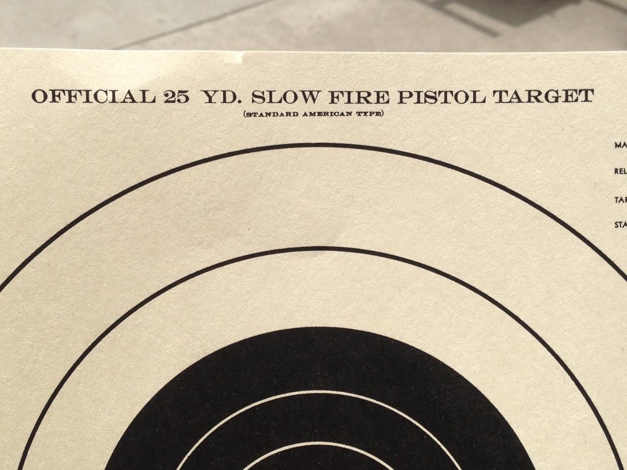 B-16/2 Tag Paper Shooting Target