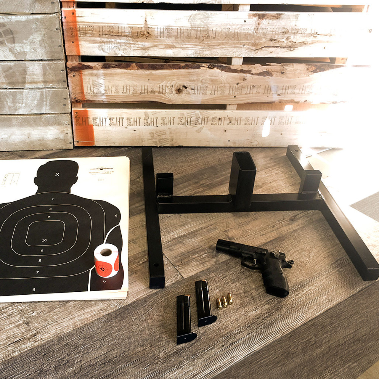 Alco Shooting Target Bundle: 2in1 Stand, R250 Pasters, and SLT 100 Pack