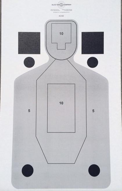 ACSD Paper Shooting Target