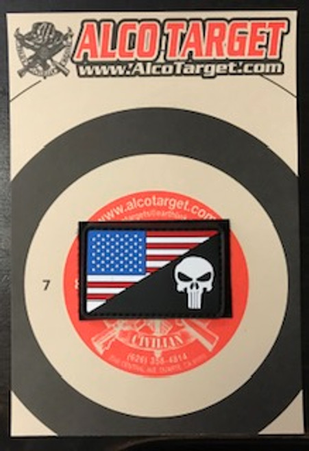 US FLAG MORALE PVC - PUNISHER