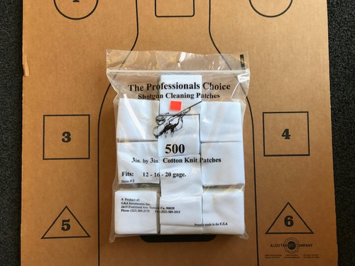 SHOTGUN CLEANING PATCHES (QTY 500)