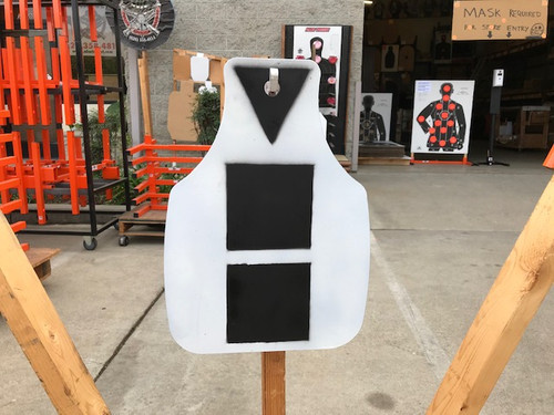 Steel Shooting Target Plate, Q-SEB Style