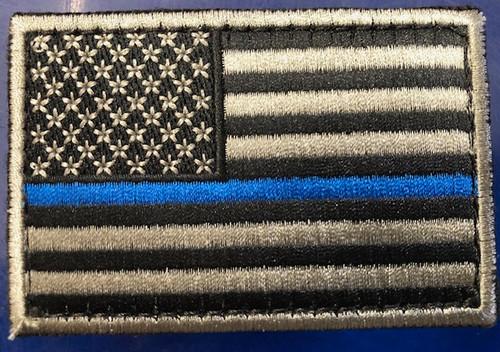 US FLAG PATCH - BLUE LINE