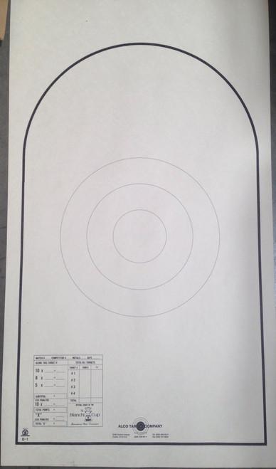 D-1 P Shooting Target
