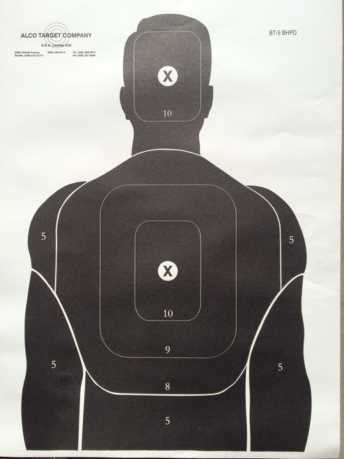 BT-5 BHPD Shooting Target