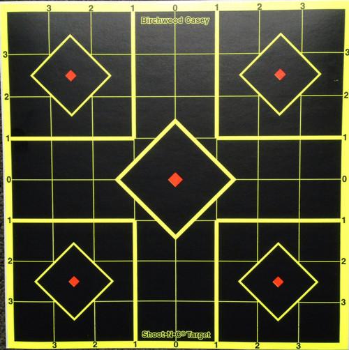 """Shoot-N-C 8"""" Square Grid 15 Pack Shooting Target"""