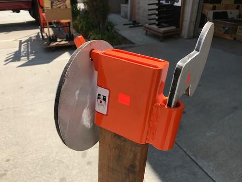 Steel Shooting Target Hook With Hostage Paddle Sleeve
