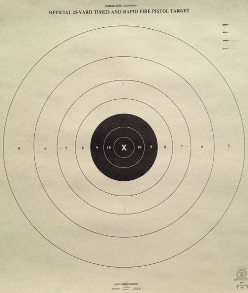 photograph relating to Nra B-8 Target Printable known as Pistol and Rifle Taking pictures Objectives - Alco Emphasis Co.