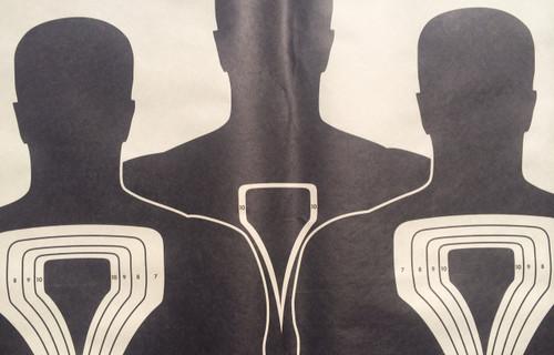 Triple Bi-Pass Silhouette Shooting Target