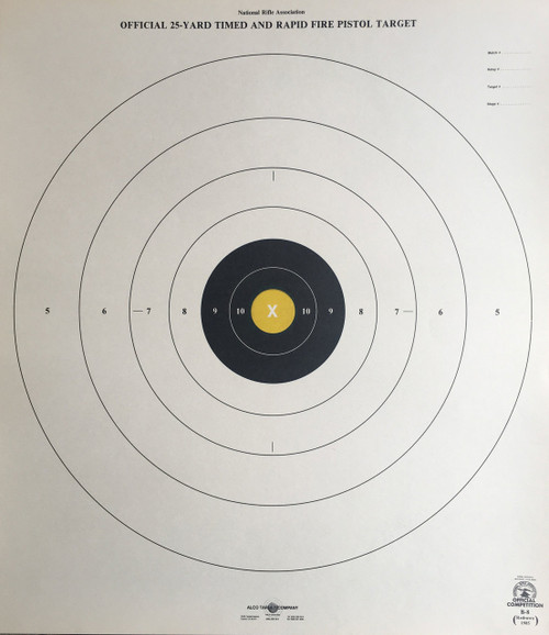 B-8P Gold Official NRA - 50 Pack