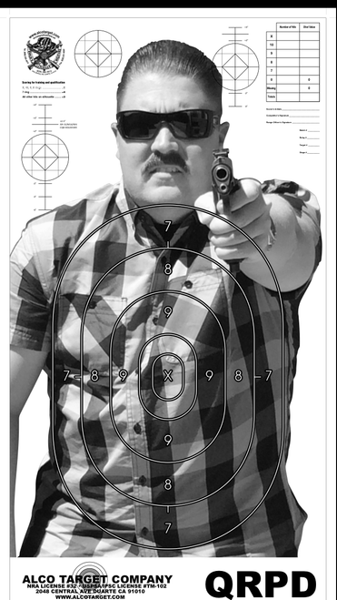 QRPD Training Shooting Target