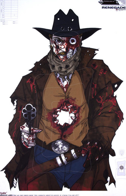 Zombie Clyde Illustrated Shooting Target