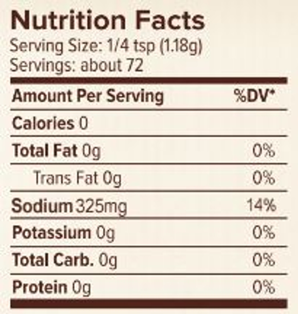 Seasonest Ghost Pepper Soul Food Spice Blend Nutrition Facts