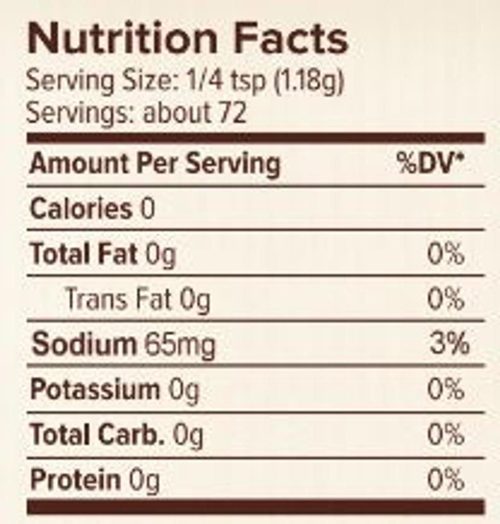 Seasonest Jerk Spice Blend Nutrition Facts