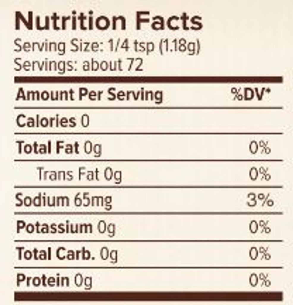Seasonest Jerk Mild Spice Blend Nutrition Facts