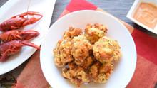 Crawfish Hush Puppies made with Seasonest Spicy Seasoning Blend