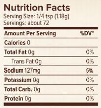 Seasonest Ghost Pepper Original Spice Blend Nutrition Facts